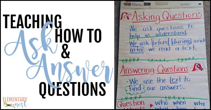 Teaching students how to ask and answer questions.
