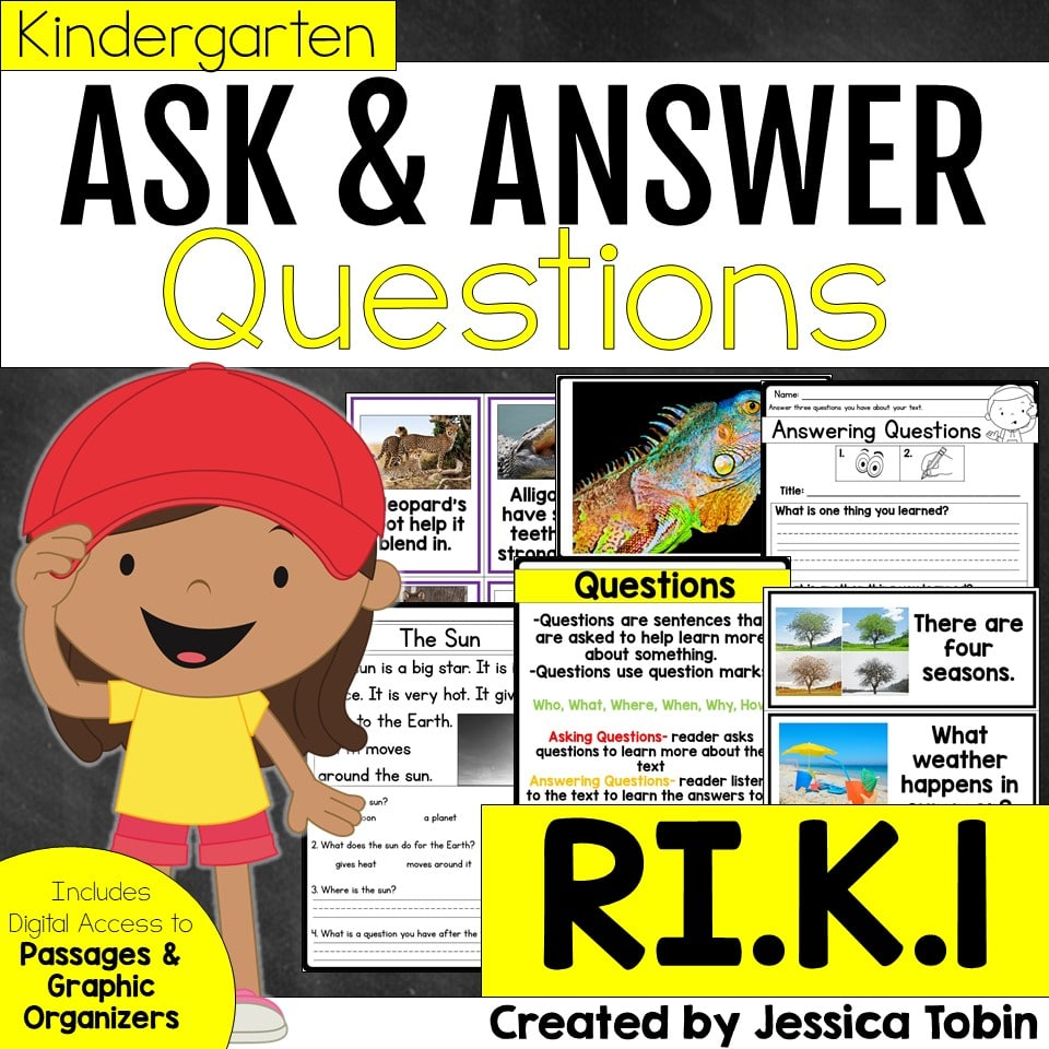 Kindergarten Ask and Answer Questions