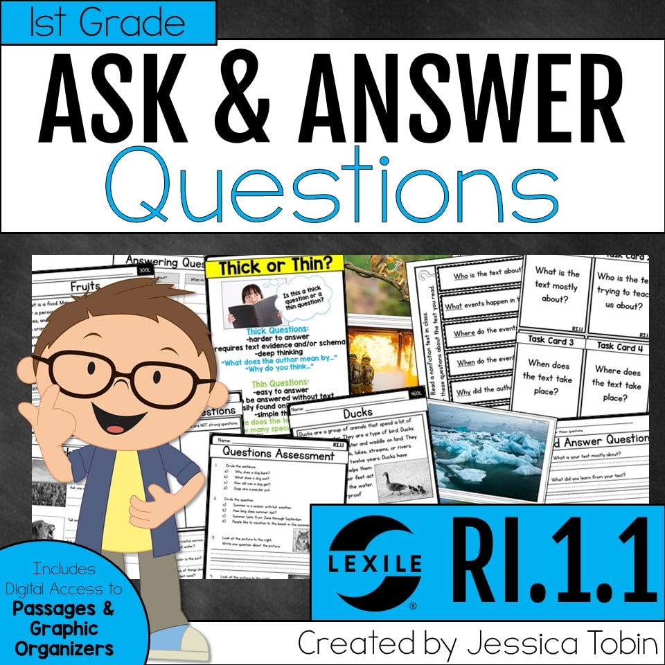 1st Grade Ask & Answer Questions