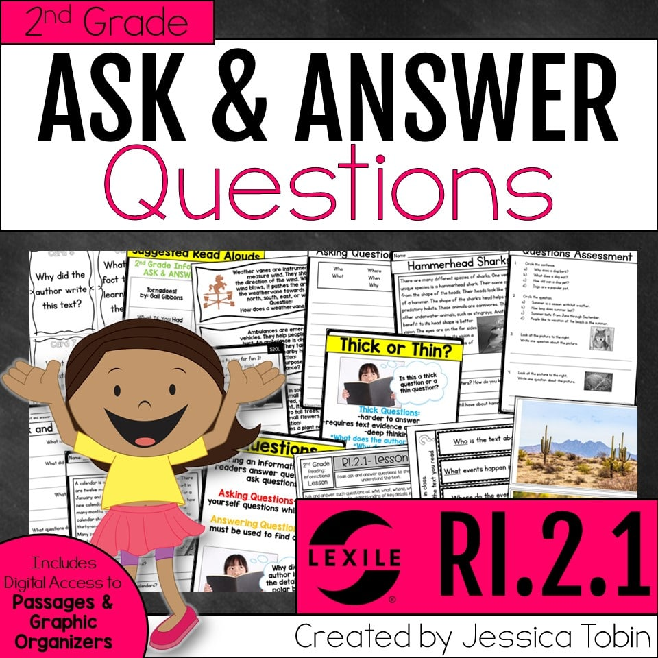 2nd Grade Ask & Answers Questions