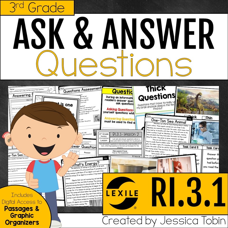 3rd Grade Ask & Answer Questions