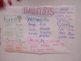 Teaching habitats activity idea for students.