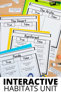 Teaching Habitats to your primary students will be a breeze with my collection of resources to help make your life easier. There's even a freebie!