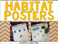FREEBIE poster- Habitat Activities and Lesson Ideas- hands-on crafts for kids and reading comprehension for a 1st and 2nd grade habitat science unit study.