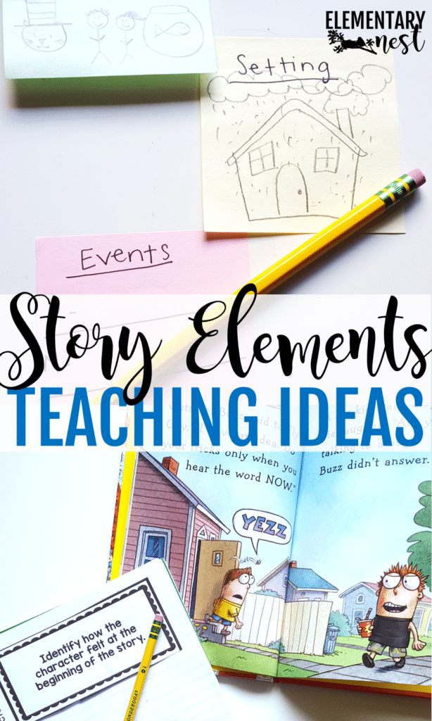 Story Elements: Activities and teaching ideas- educational ideas for characters, setting, events, problem and solution, and more. Hands-on ideas for a first grade, second grade, and third grade classroom.