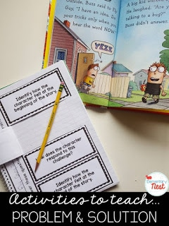 Activities to teach problem and solution interactive notebook.
