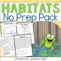 Habitats no prep pack for teachers on the go.