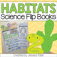 Habitats science flip books for teachers.
