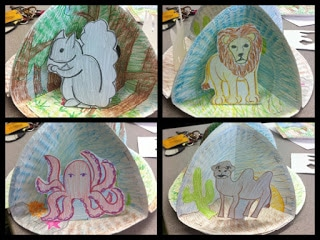 Habitat art project idea for primary students.