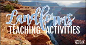 Landforms teaching activities