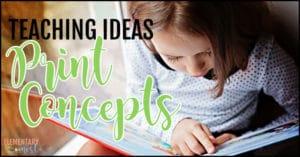 Print concepts activities