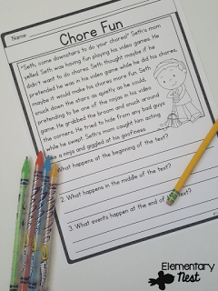 Story Structure activities for 2nd grade (beginning, middle, and end.)