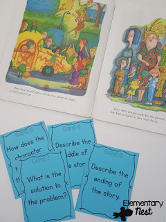 Teaching story structure with task cards.