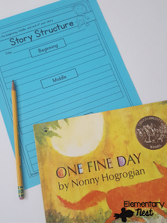 One Fine Day activity for early finishers when learning story structure.