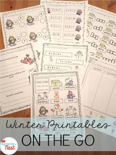 Winter-themed printables for children - hands-on activities for kids