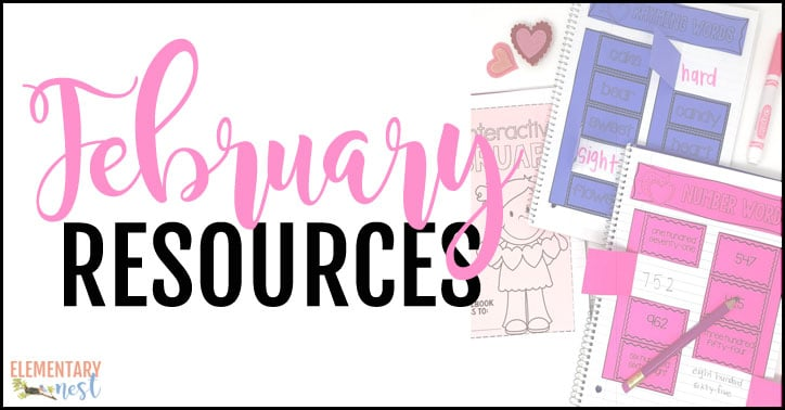 February resources for elementary teachers.