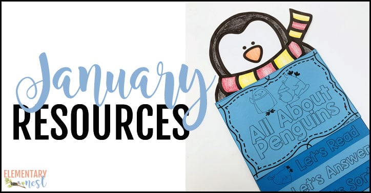 January-themed resources for the elementary classroom.