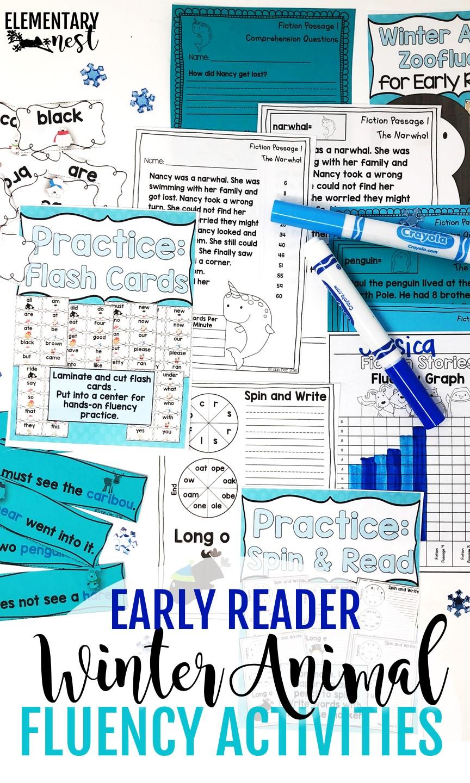 Winter Animals and Fluency practice.
