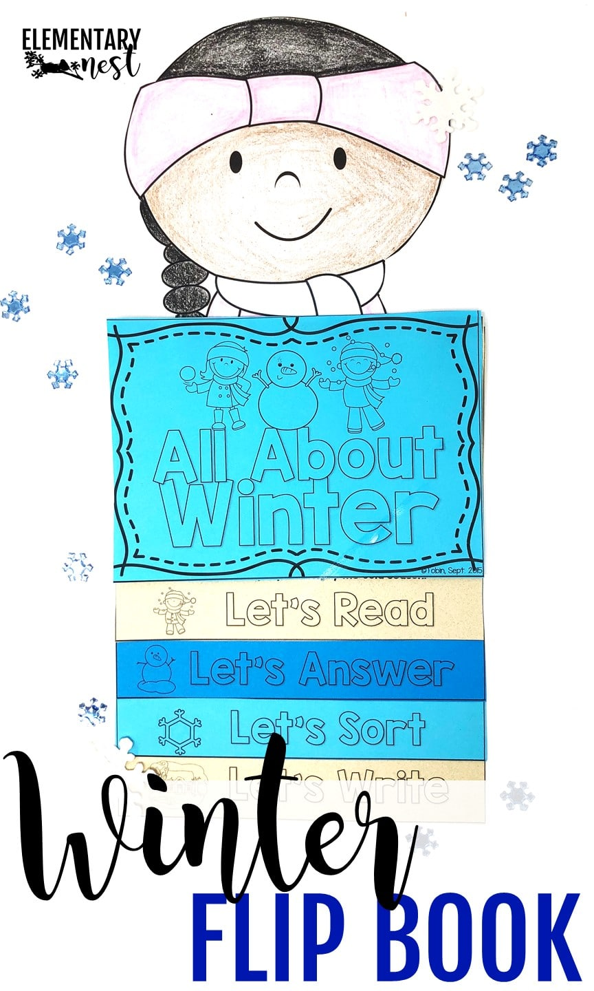 January Resources for K-3 - Winter flip book- winter reading activities.