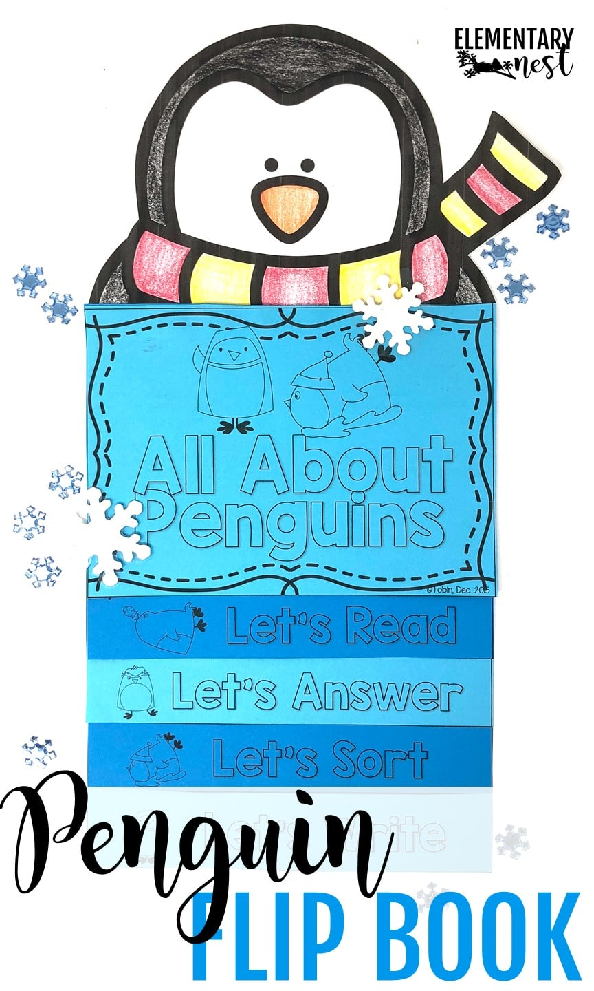 January Resources for K-3 - Penguin flip book - penguin-themed activities.