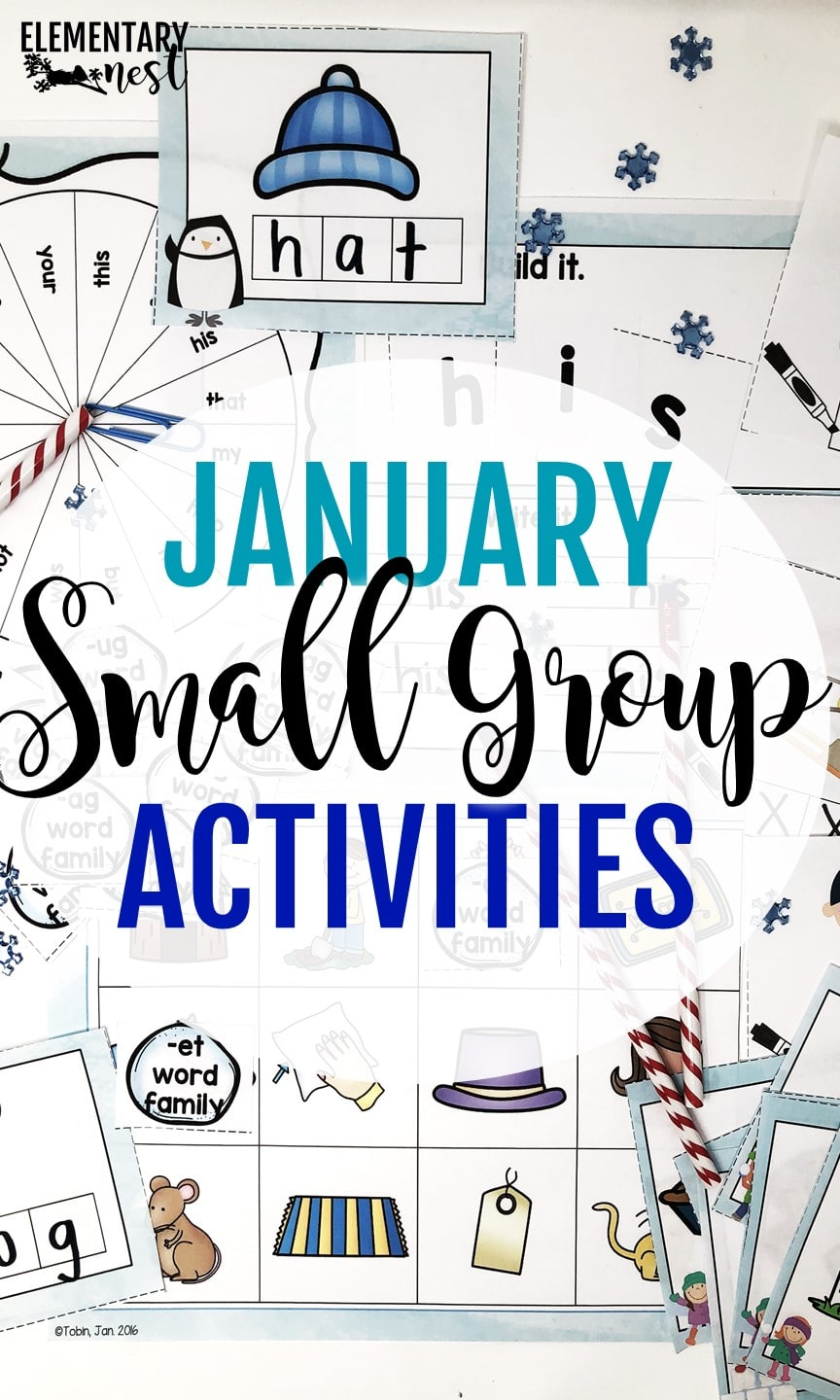 Small group hands-on activities with a winter theme -January Resources for K-3