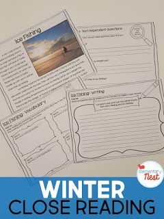 Winter close reading activity for children