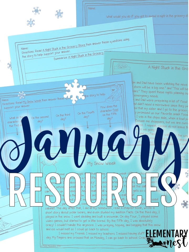January-themed resources for the primary school teacher.