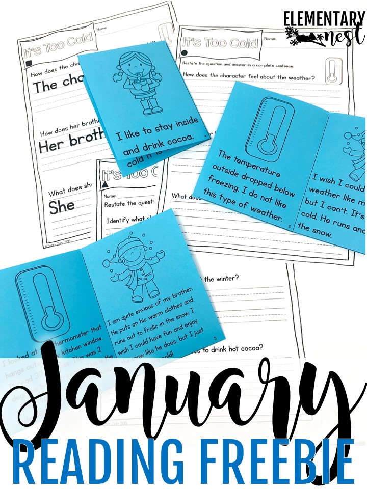 FREE differentiated reading for the month of January.