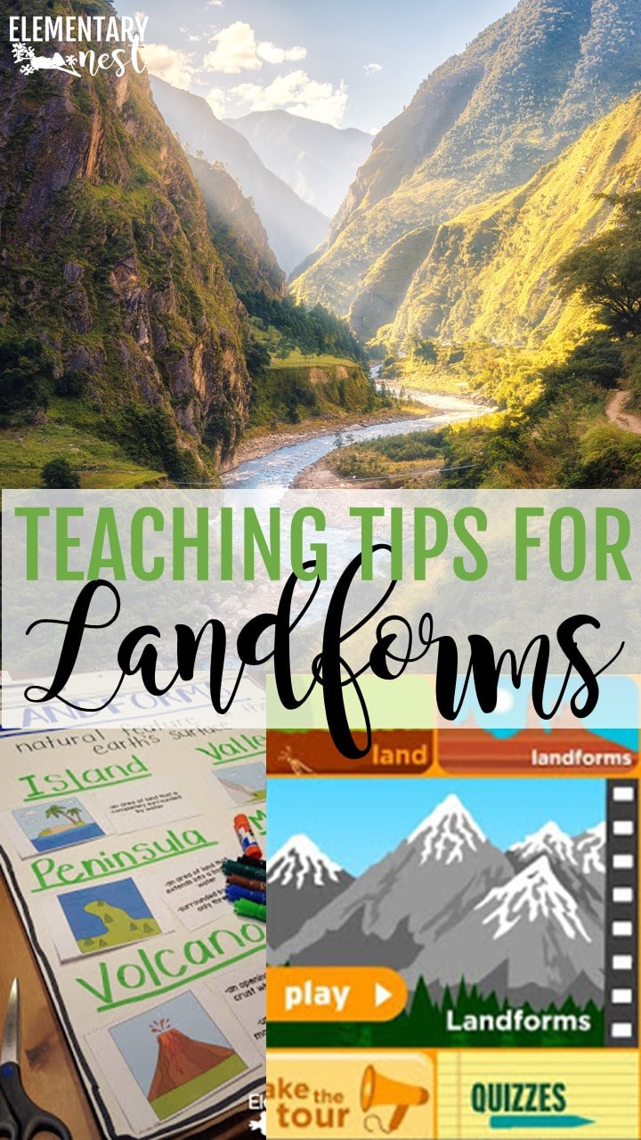 Teaching tips and ideas for landforms in the primary classroom.