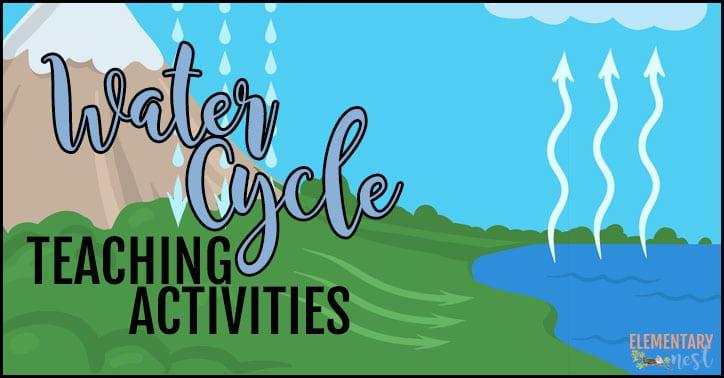 Teaching water cycle.