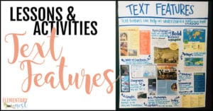 Text features activities