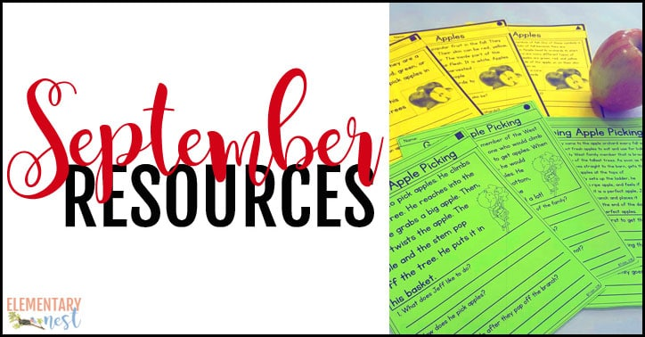 September resources for primary teachers.