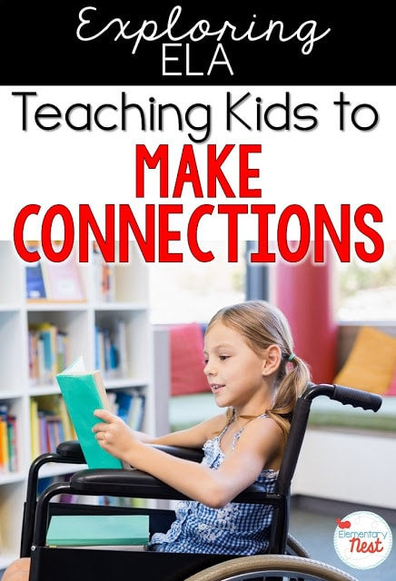 Teaching kids to make connections in an informational text.
