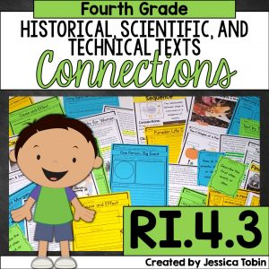 Making Connections in an informational text for 4th grade students RI.4.3