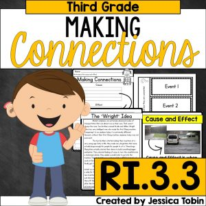 Making Connections for 3rd grade students RI.3.3