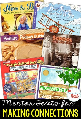 Primary informational mentor text suggested book list for finding the connections within a nonfiction text- finding technical process, scientific ideas, or historical events connections- RI.1.3, RI.2.3, RI.3.3