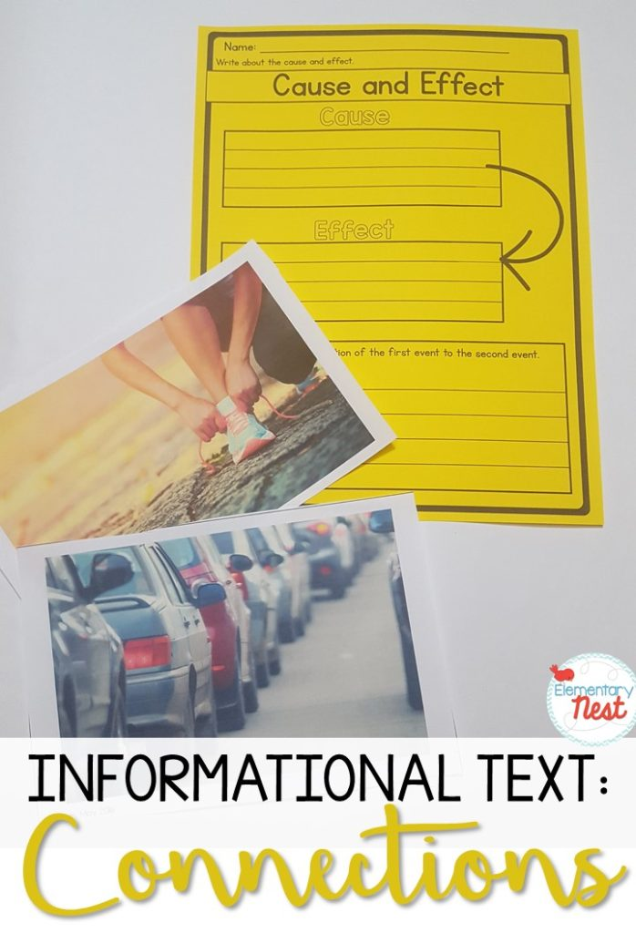Connections in informational text cause and effect worksheet.