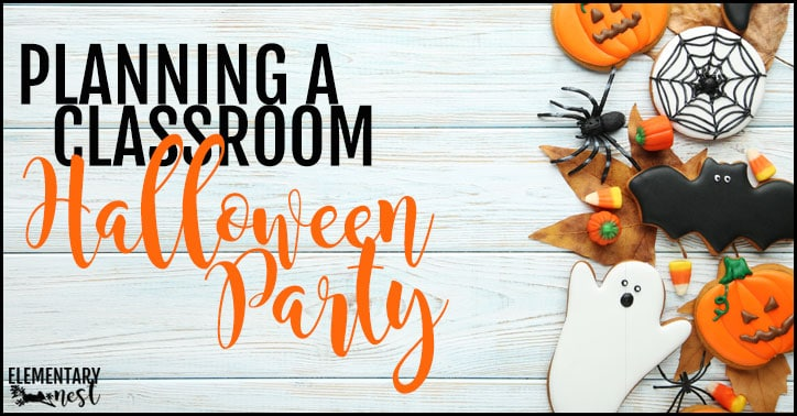How to plan a classroom Halloween party.