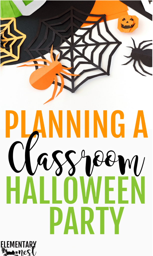 Classroom Halloween Party- planning a halloween party with halloween snacks and treats, halloween activities, free games.