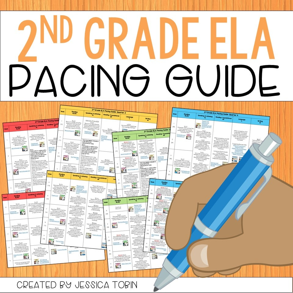 Free 2nd Grade ELA Pacing Guide