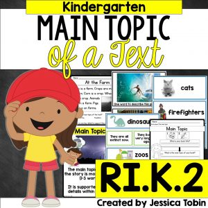 Kindergarten main topic of a text activity.