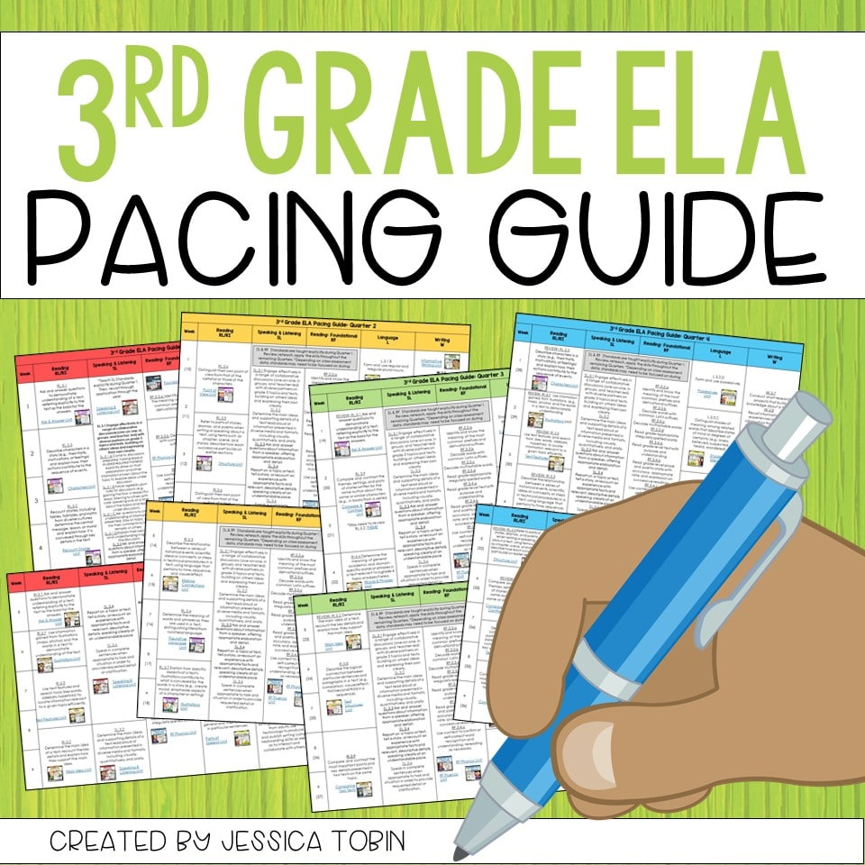 FREE 3rd Grade ELA Pacing Guide