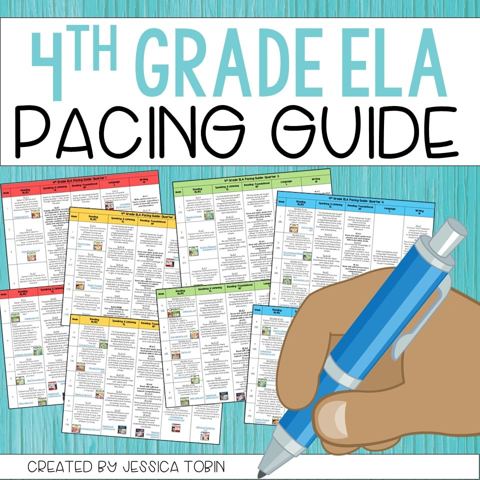 FREE 4th Grade ELA Pacing Guide