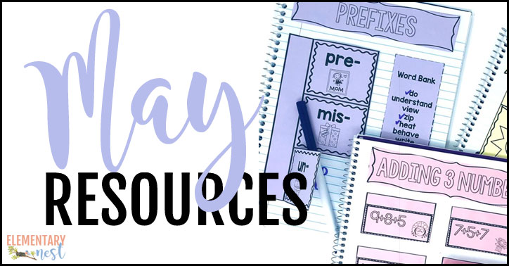 May resources roundup for the elementary classroom.
