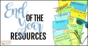 End of year resources