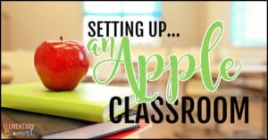 Setting up an apple classroom