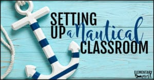 Setting up a nautical classroom