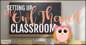 Setting up an owl themed classroom