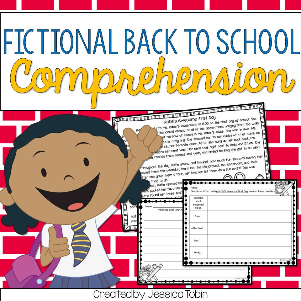 Fictional back to school themed reading comprehension activity.