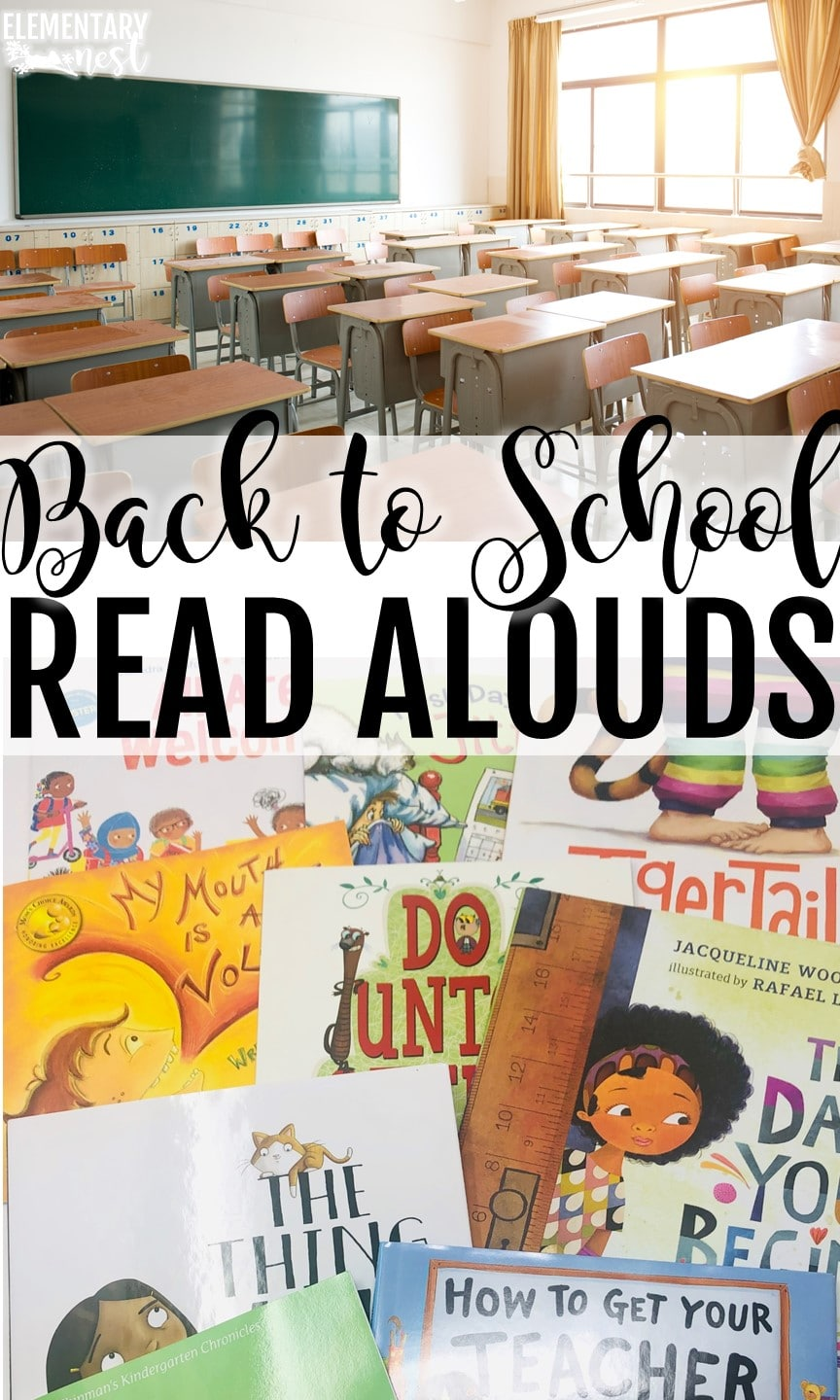 Back to school read aloud list for primary students.